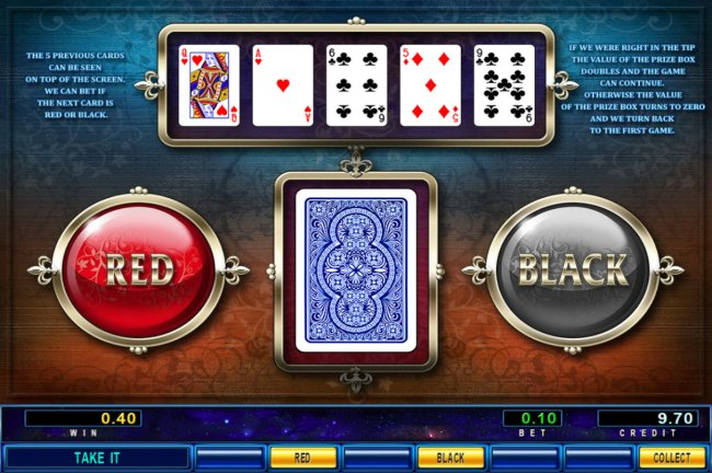 Red or Black Gamble feature by Free Slots 247