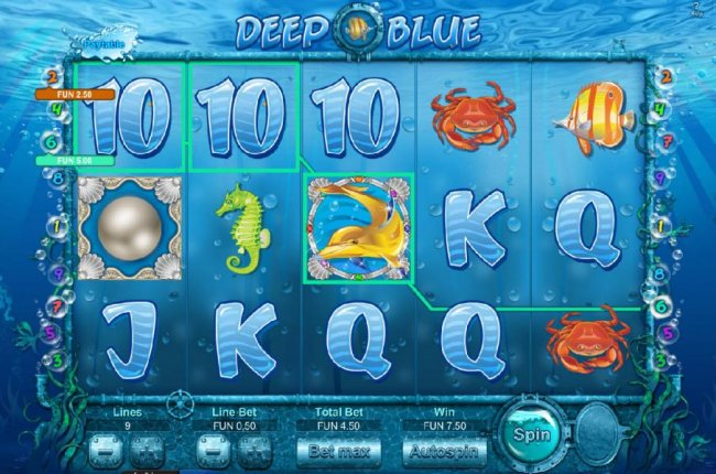 Free Slots 247 image of Deep Blue  HD