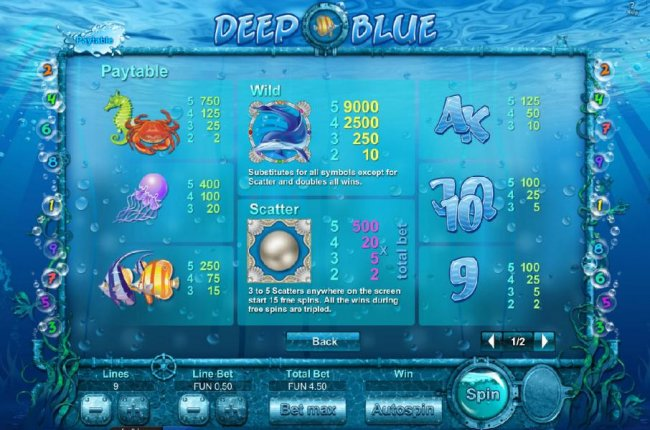 Deep Blue  HD by Free Slots 247