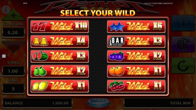 Select your wild to use during game play. by Free Slots 247