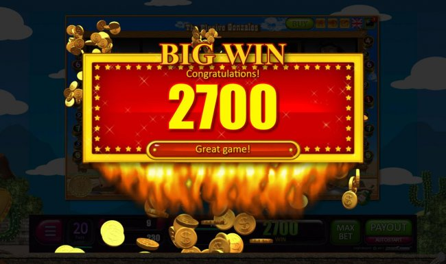 Bonus game pays out a total of 2700 credits by Free Slots 247