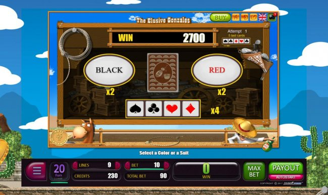 Free Slots 247 - Red-Or-Black Risk Game - To gamble any win press Gamble then select Red or Black.