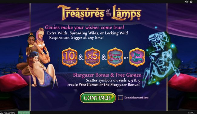 Treasures of the Lamp by Free Slots 247