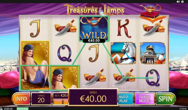 Free Slots 247 image of Treasures of the Lamp