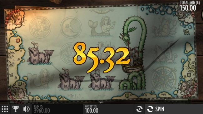 A combination of three serpent symbols and an expanded wild triggers an 85.32 payout. by Free Slots 247