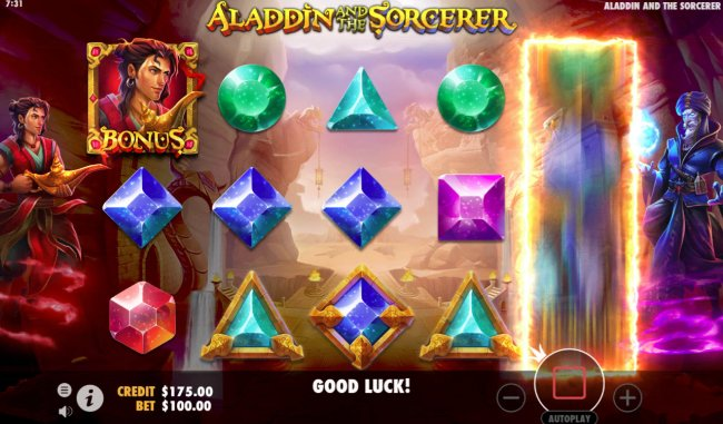 Aladdin and the Sorcerer by Free Slots 247