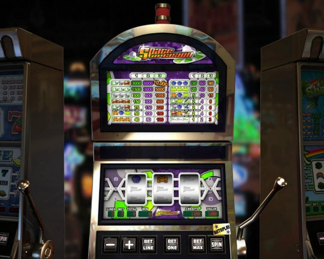 Main game board featuring three reels and 3 paylines with a $10,000 max payout. - Free Slots 247