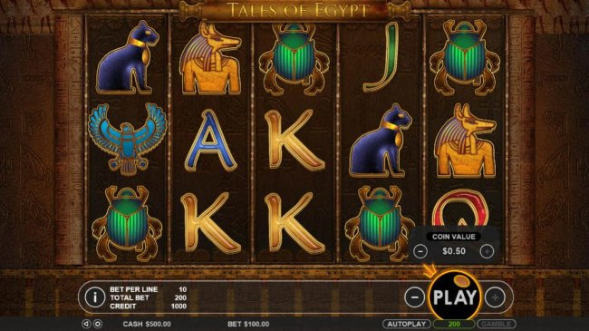 Main game board featuring five reels and 20 paylines with a $5,000 max payout by Free Slots 247