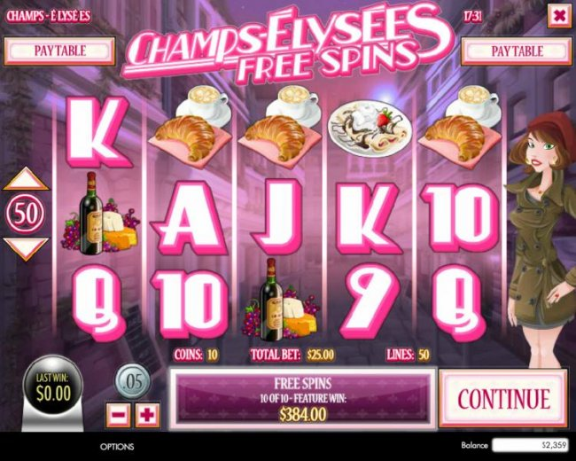 Free Slots 247 image of Champs-Elysees