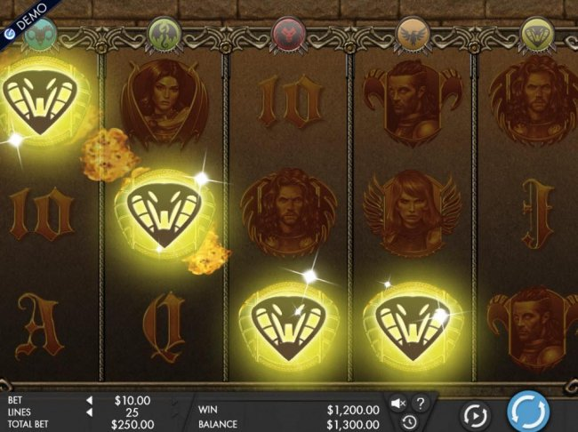 A winning Four of a Kind triggers a 1,200.00 payout. - Free Slots 247