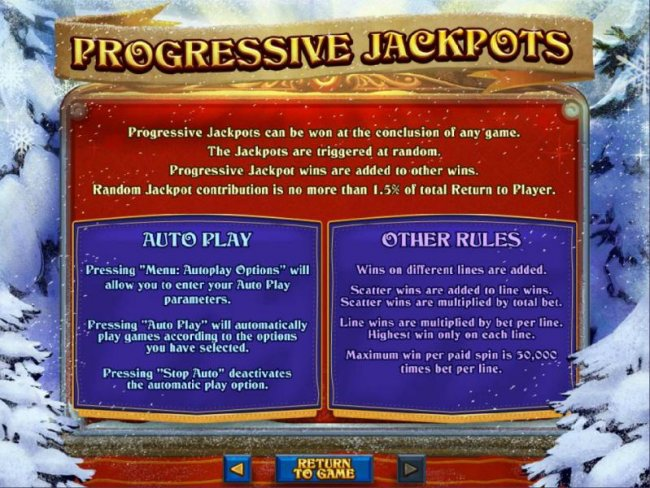 Free Slots 247 - Progressive Jackpot Rules - Progressive jackpots can be won at the conclusion of any game.