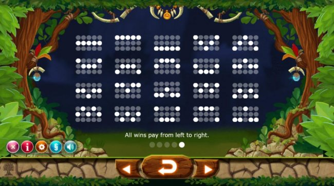 Payline Diagrams 1-25 All wins pay from left to right. - Free Slots 247