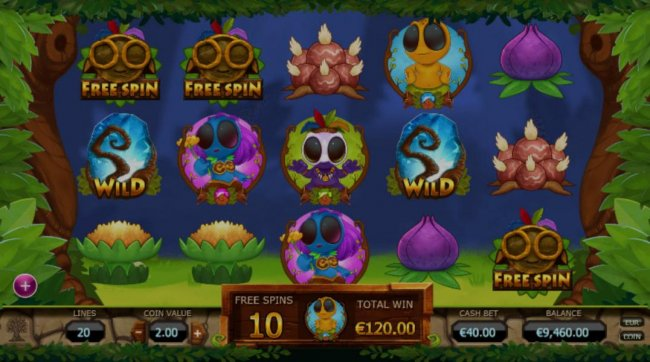 Bonus Free Spins Game Board by Free Slots 247