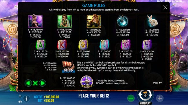 Free Slots 247 image of Lucky, Grace & Charm