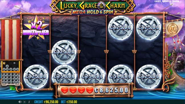 Land star symbol and multiply your winnings by Free Slots 247