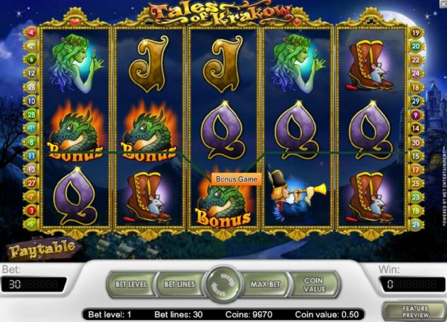 Free Slots 247 - bonus game feature triggered