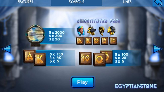Egyptian Stone by Free Slots 247