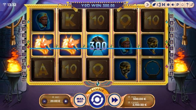 A big win triggered by a pair of winning paylines by Free Slots 247