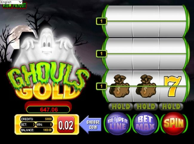 Free Slots 247 - main game board featuring three reels and three paylines