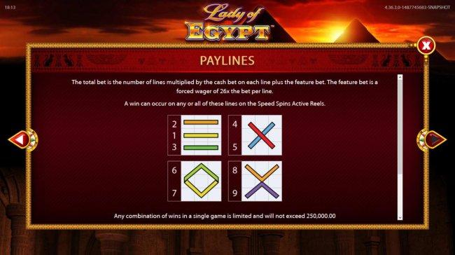 Free Slots 247 - Payline Diagrams 1-9