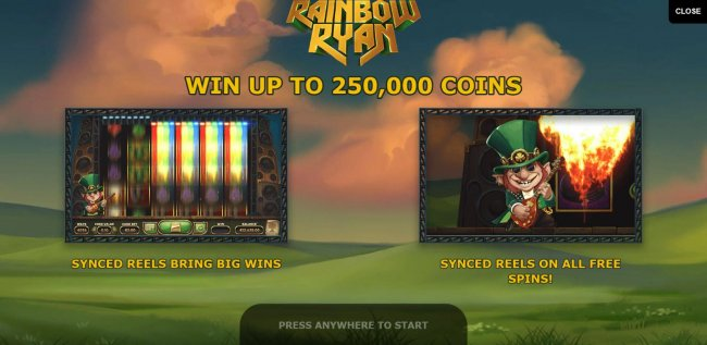 Game features include: Synced Reels and a chance to win up to 250,000 coins by Free Slots 247