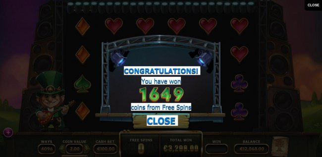 Total free spins payout awarded 1649 coins - Free Slots 247