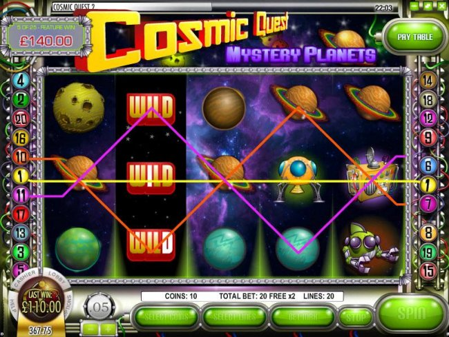 Images of Cosmic Quest Mystery Planets