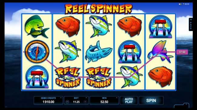 A pair of winning paylines triggers a 52.50 jackpot. - Free Slots 247