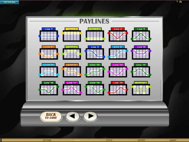 Free Slots 247 - payline diagrams