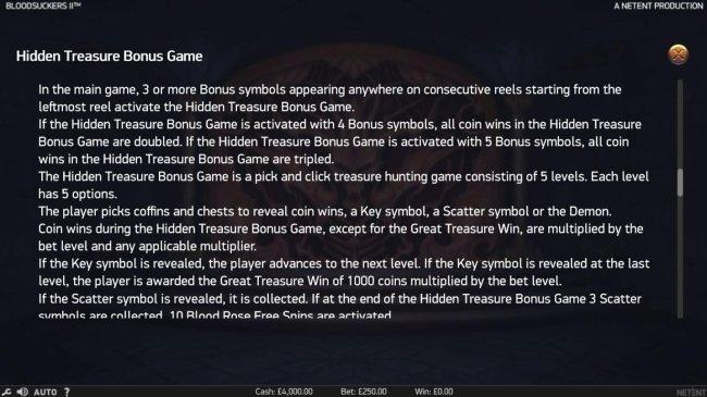 Hidden Treasure Bonus Game Rules by Free Slots 247