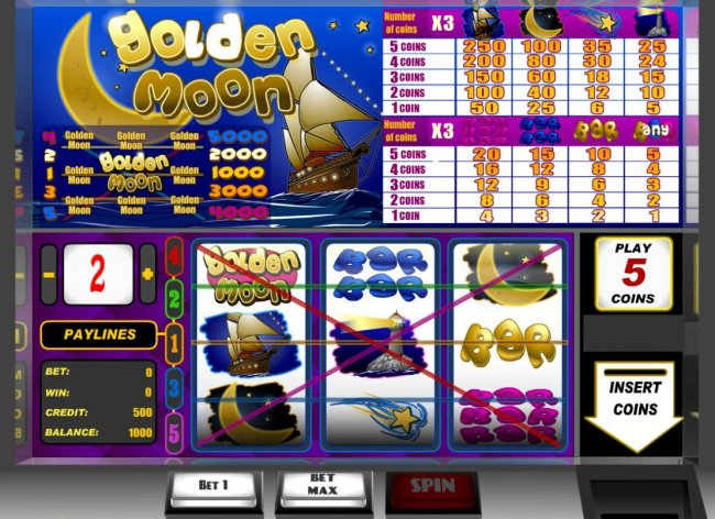 Golden Moon by Free Slots 247