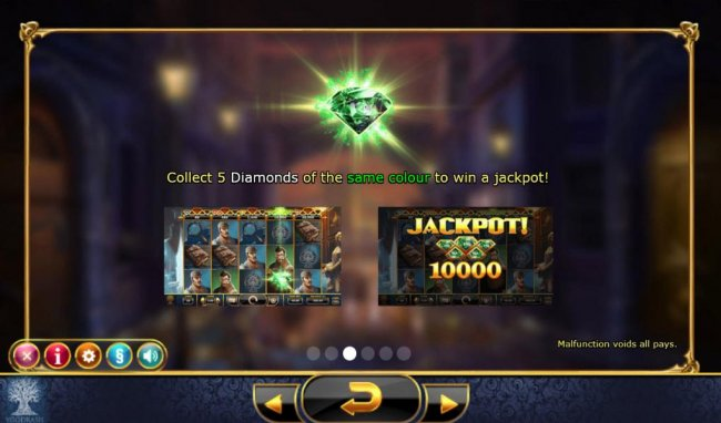 Collect 5 diamonds of the same color to win a jackpot! by Free Slots 247