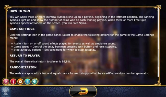 Free Slots 247 - The overal theoretical return to player is 96.8%