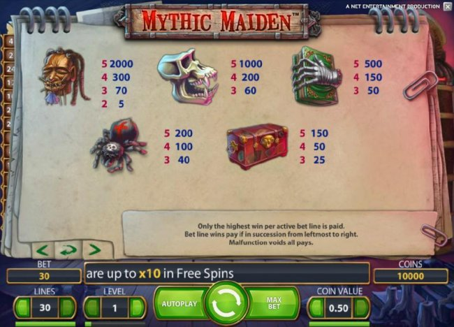 Mythic Maiden by Free Slots 247