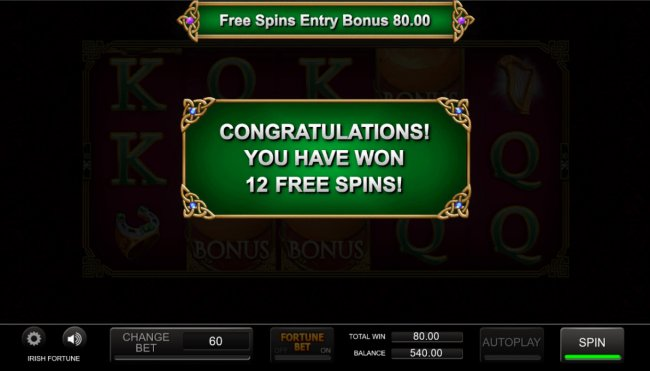 Free Slots 247 - 12 free spins awarded