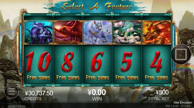 Free Slots 247 - Pick your free spins feature
