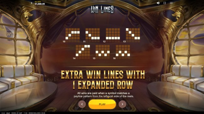 Free Slots 247 - Extra Win Lines with 1 Expanded Row