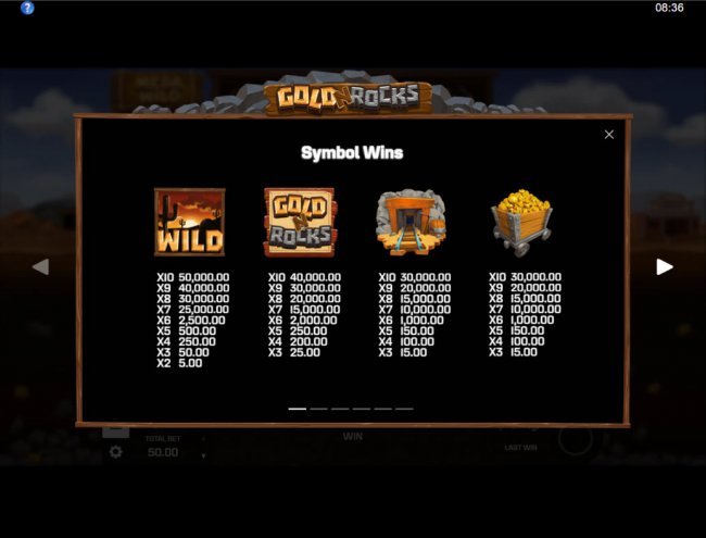 Paytable - High Value Symbols by Free Slots 247