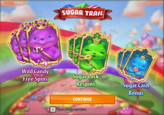 Free Slots 247 - features include wild candy free spins, sugar lock respins and sugar cash bonus
