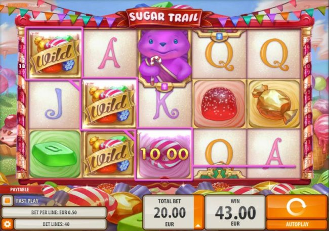 Three wild symbols combine to triggering multiple winning paylines. by Free Slots 247
