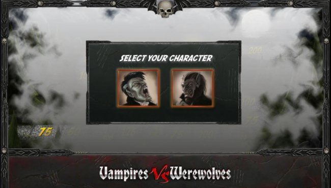 select your character, vampire or werewolfe by Free Slots 247